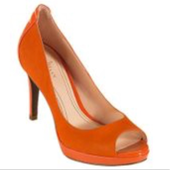 30b1bc5021bc COLE HAAN~Corporate Orange Chelsea Open-toe Pump